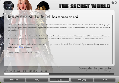 The Secret World - Patching Beta Weekend Client