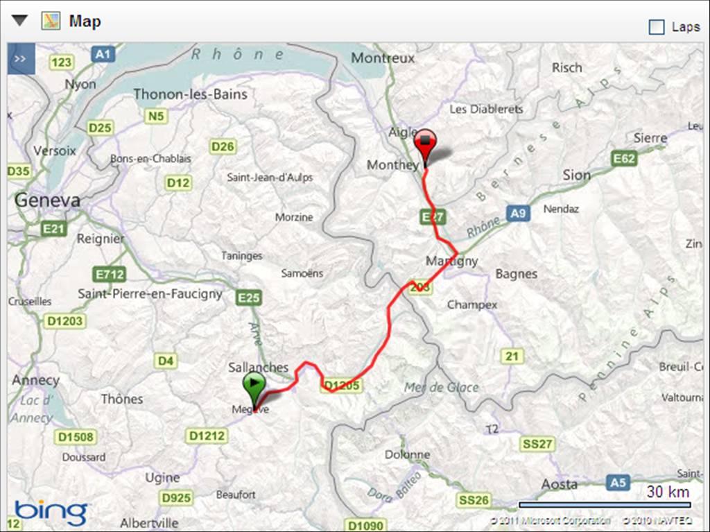 Bex Switzerland  City new picture : Friday 3rd June 2011. Megeve France to Bex Swizterland. 110km. 1450m ...