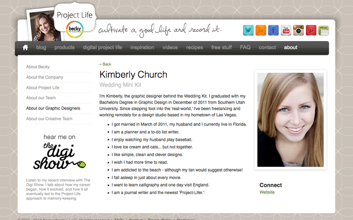 Kimberly Church || Wedding Mini Kit designer