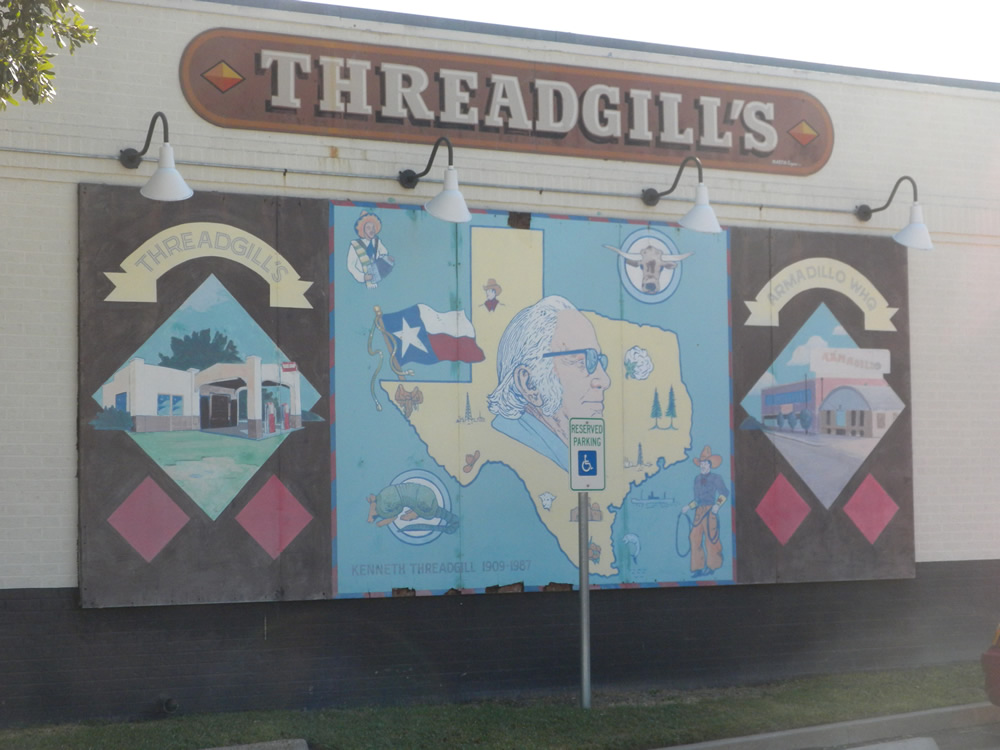 Austin texas daily photo mural at threadgill 39 s for Austin mural location