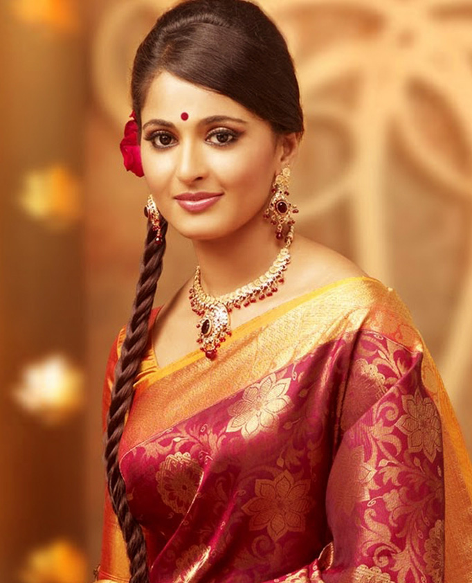 Anushka In Different Color Sarees Gallery Bay
