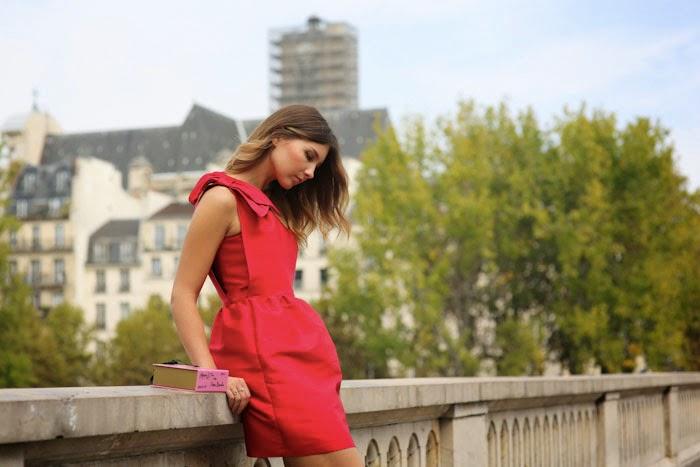 TARA JARMON RED DRESS