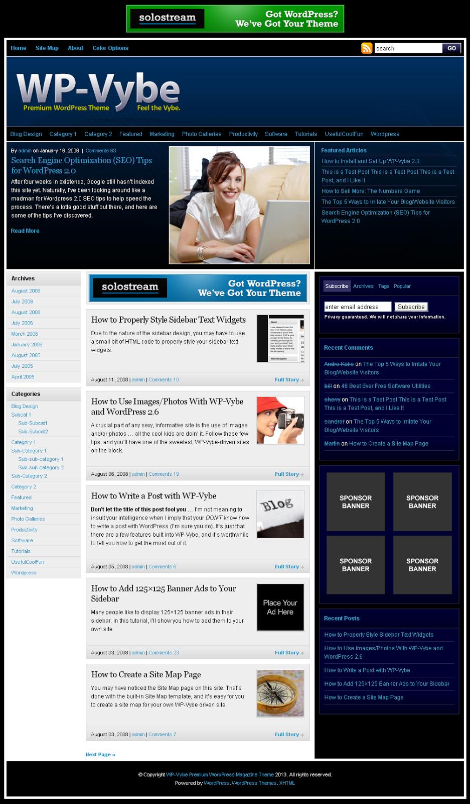 WP Vybe Premium WordPress Magazine Theme