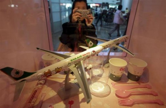 plane models hello kitty pink stuff