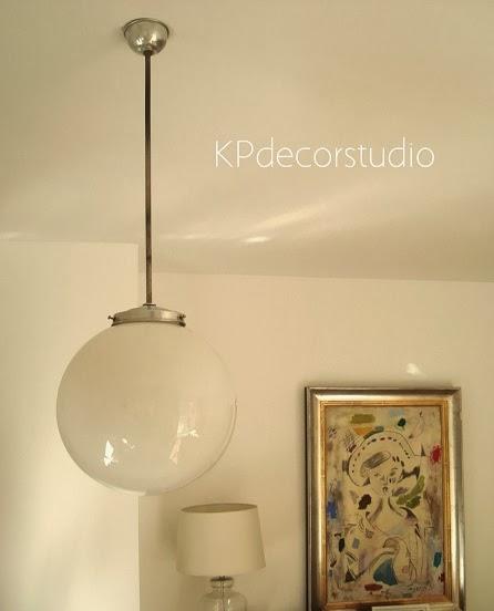Kp tienda vintage online l mpara de techo tipo globo a os 50 50 39 s pendant lamp - Lamparas para techos muy altos ...
