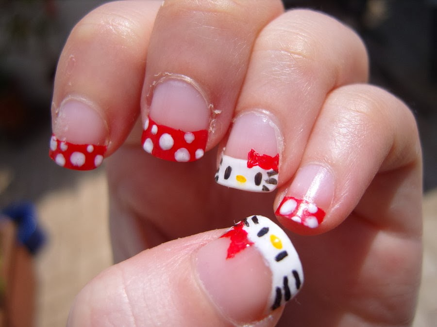 One Hundred Styles Hello Kitty Nail Art Designs For Short Nails