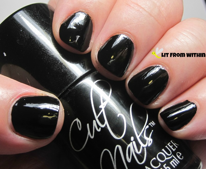 Cult Nails Nevermore.  One-coat shiny black goodness.