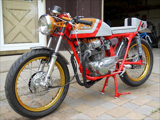 1975 Honda CB200T Caf   Racer    8negro