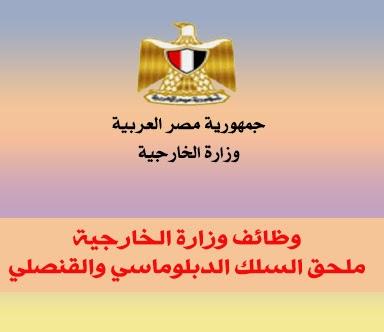 وظائف ملحق السلك الدبلوماسي والقنصلي 2014