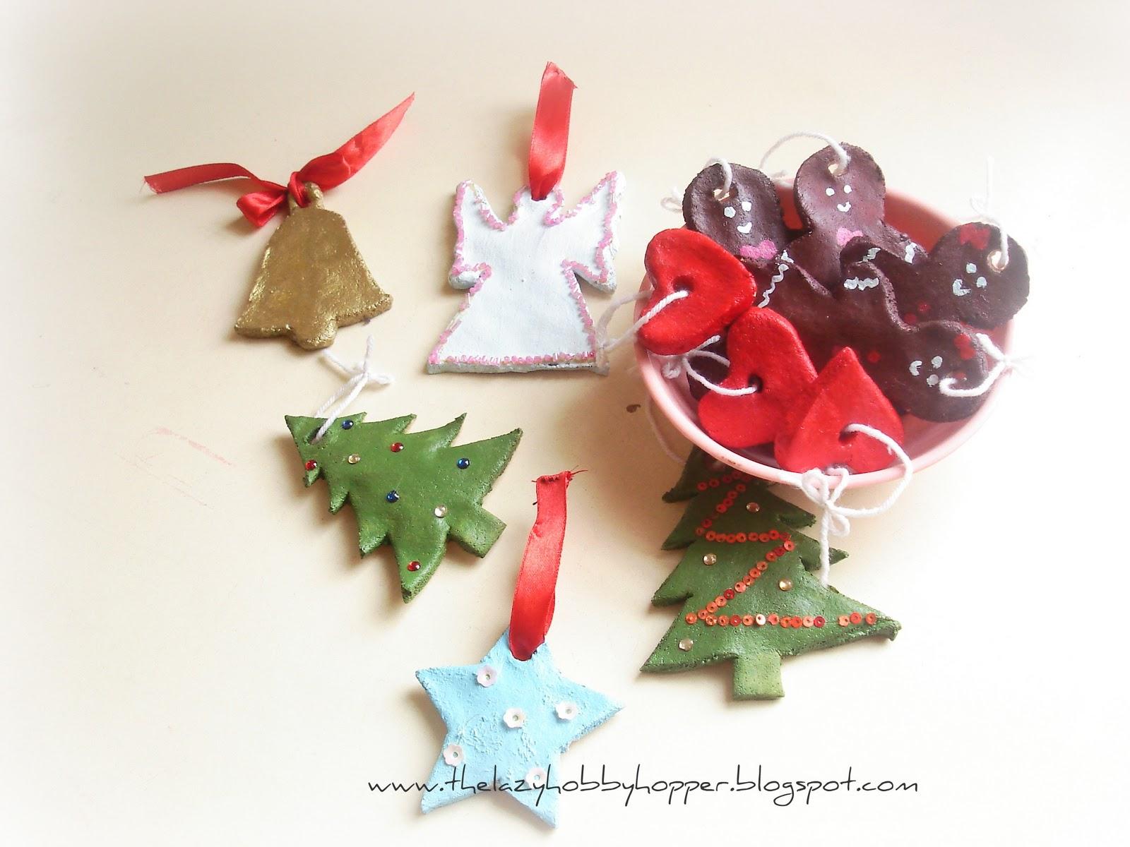 The lazy hobbyhopper salt dough christmas ornaments