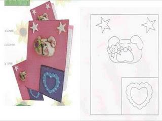 moldes para E.V.A de capa de caderno infantil