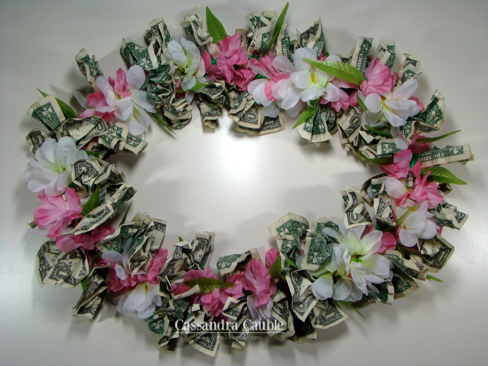 creating with color by cassandra bridal shower gift money lei