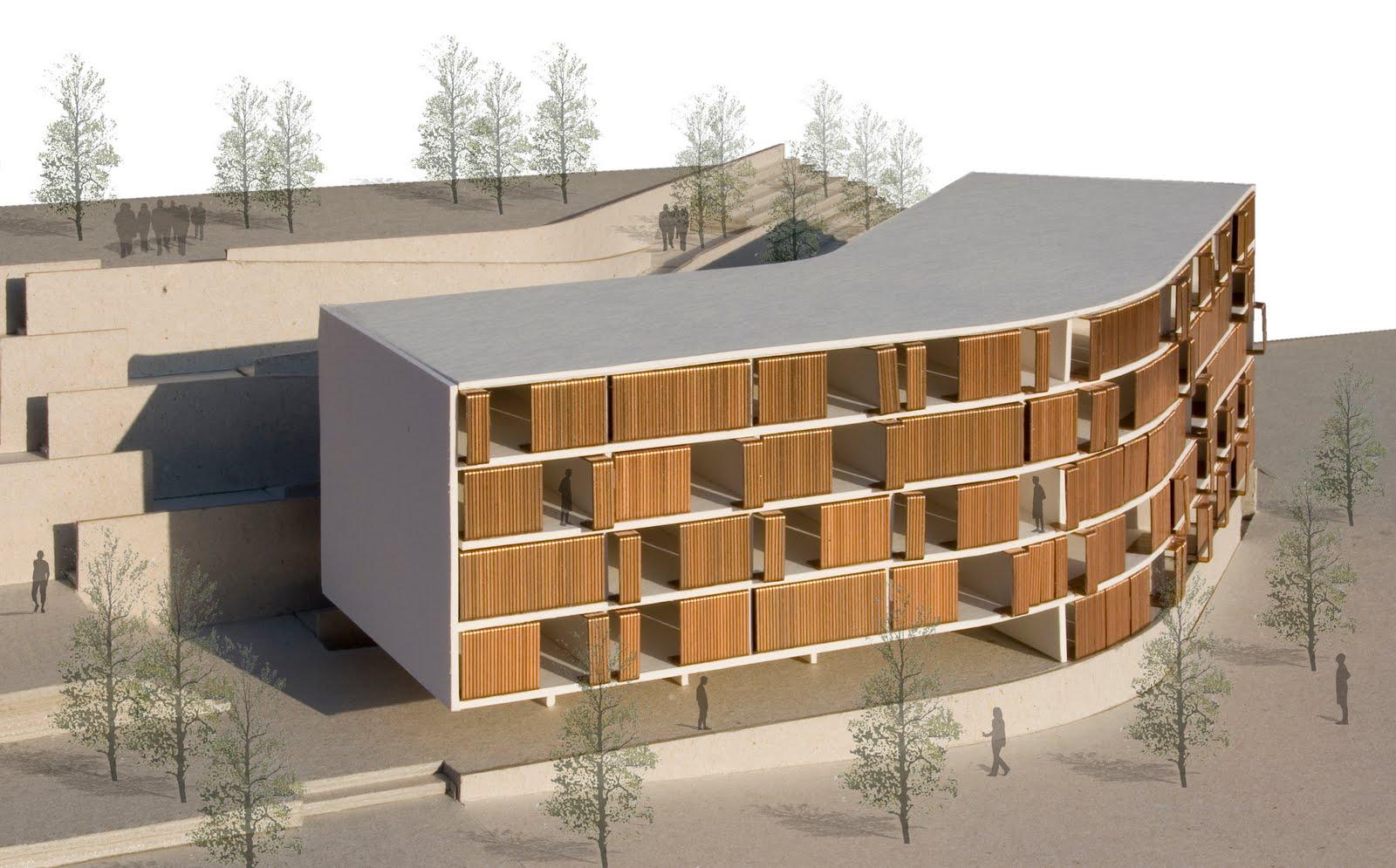 V m arquitectos valencia spain ed 42 viviendas - Patio ingles ...
