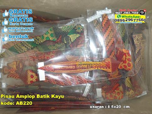 Pisau Amplop Batik Kayu unik