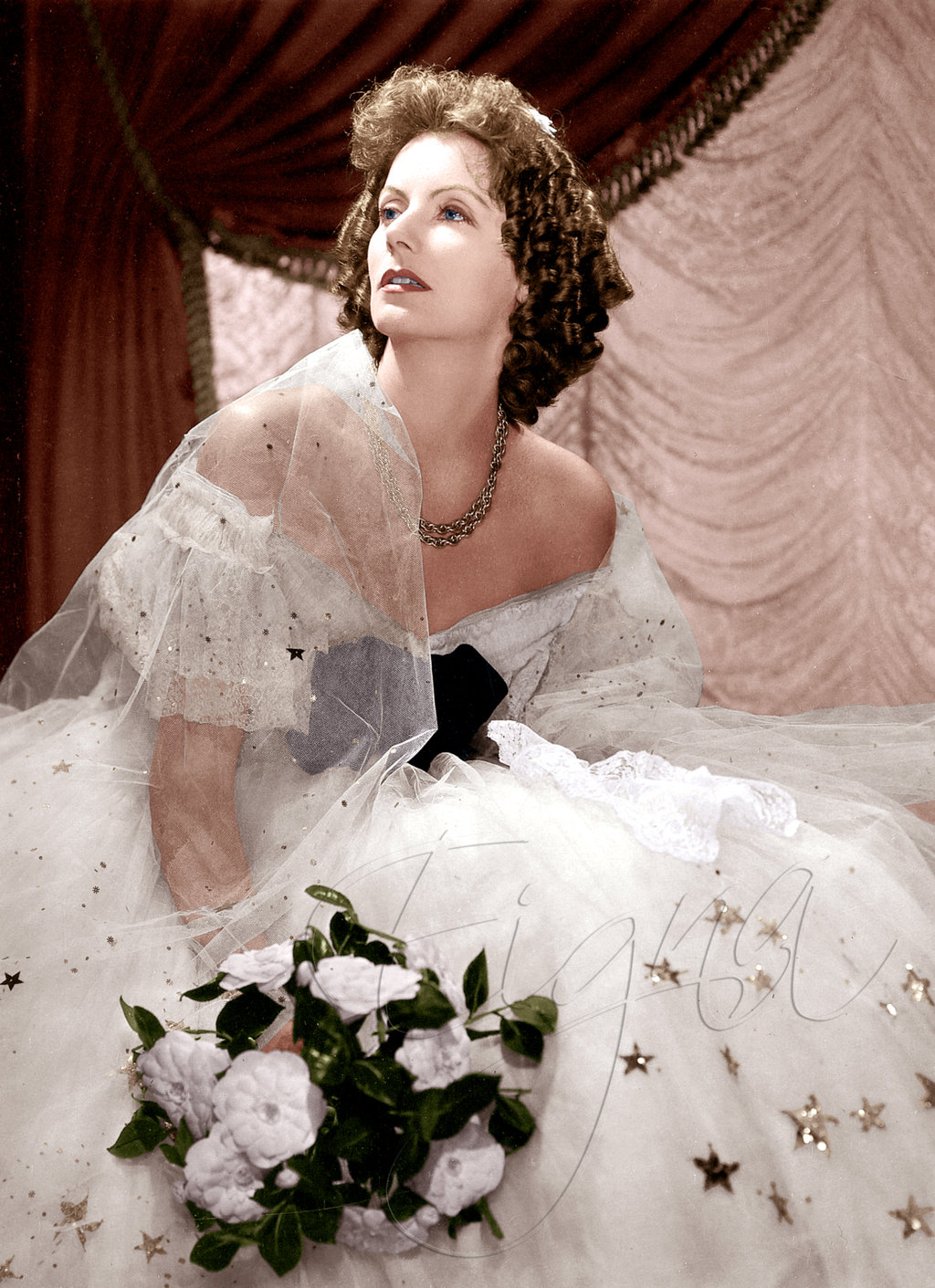 Greta Garbo in Camille  1936 Greta Garbo Color