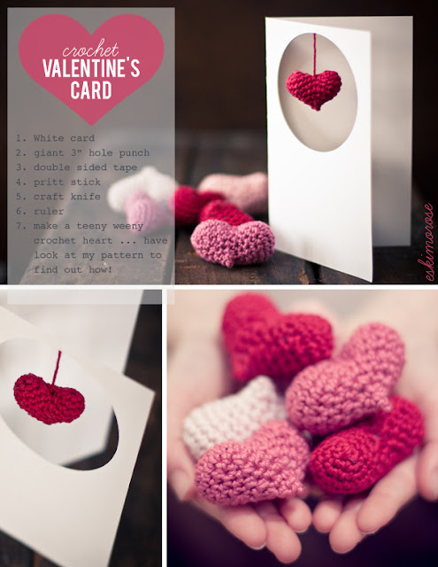 love Kawaii: Crochet Valentines Card
