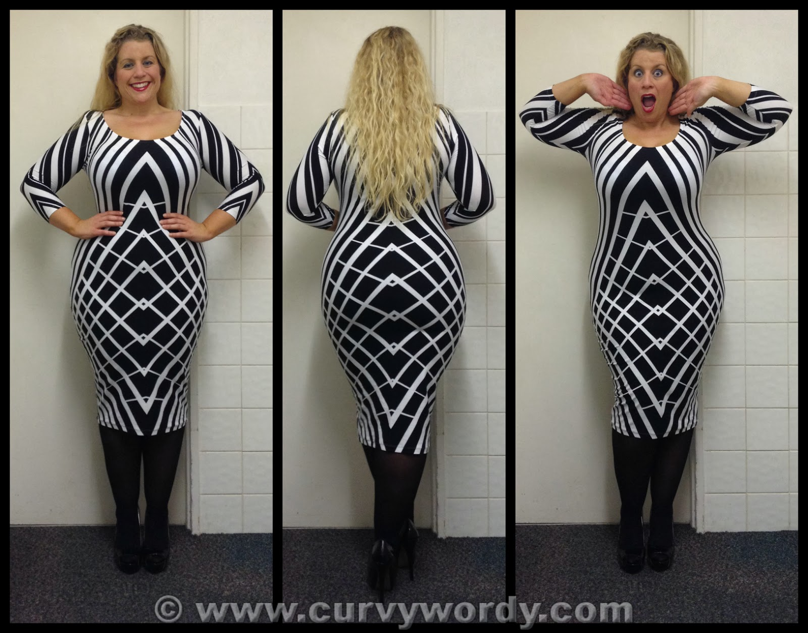 Size 4 black dress graphic