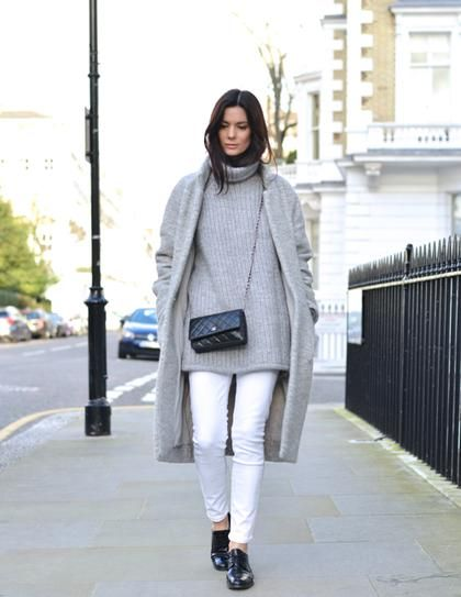 white denim streetstyle look