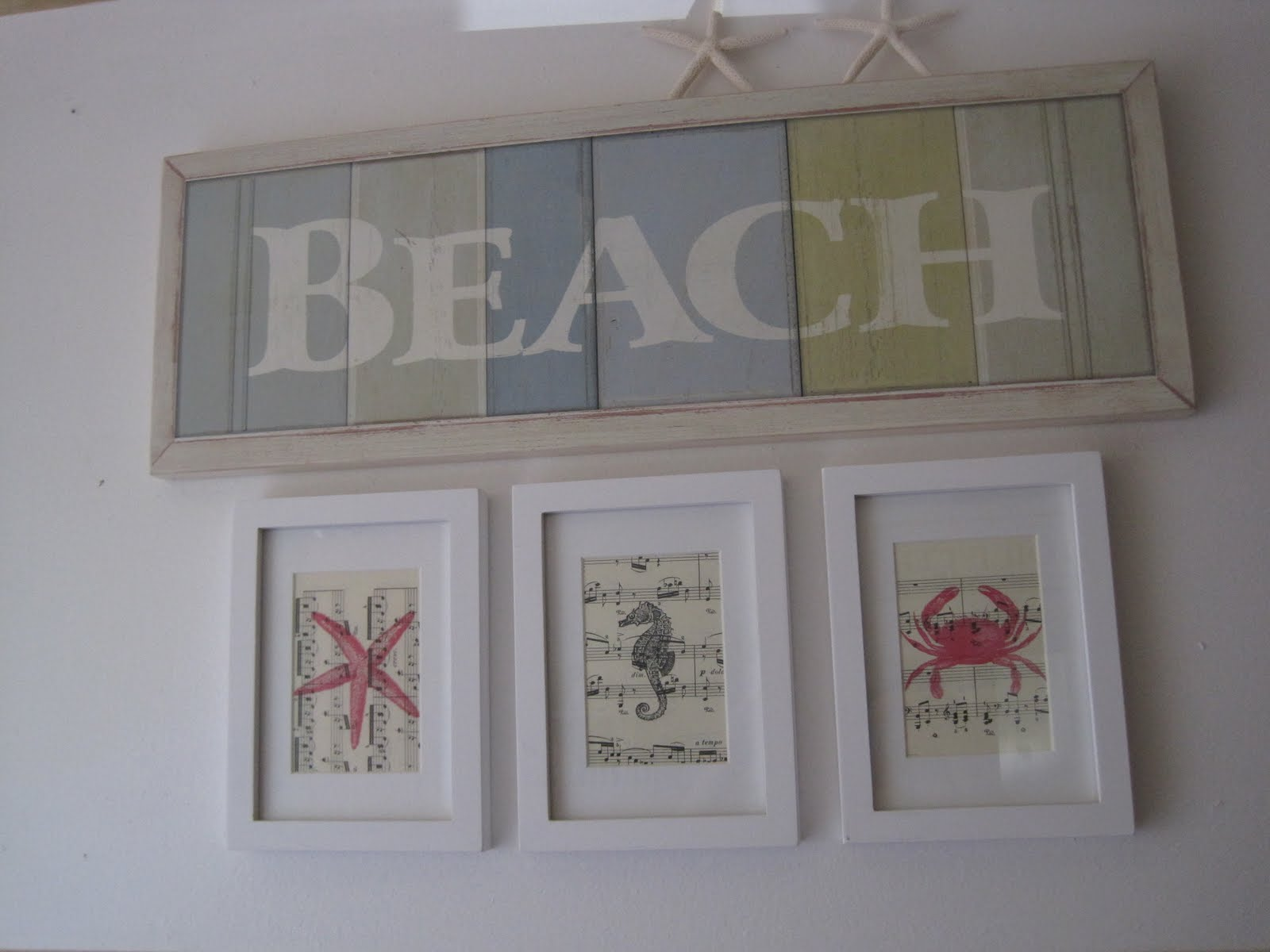 Beach Creatures Wall Art Okio B Designs