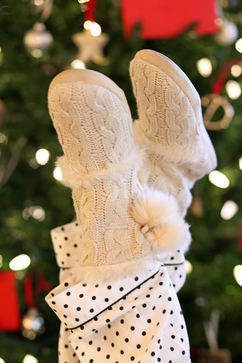 target-cable-knit-slippers-victorias-secret-polka-dot-pajamas-christmas-traditions-king-and-kind-san-diego-blogger