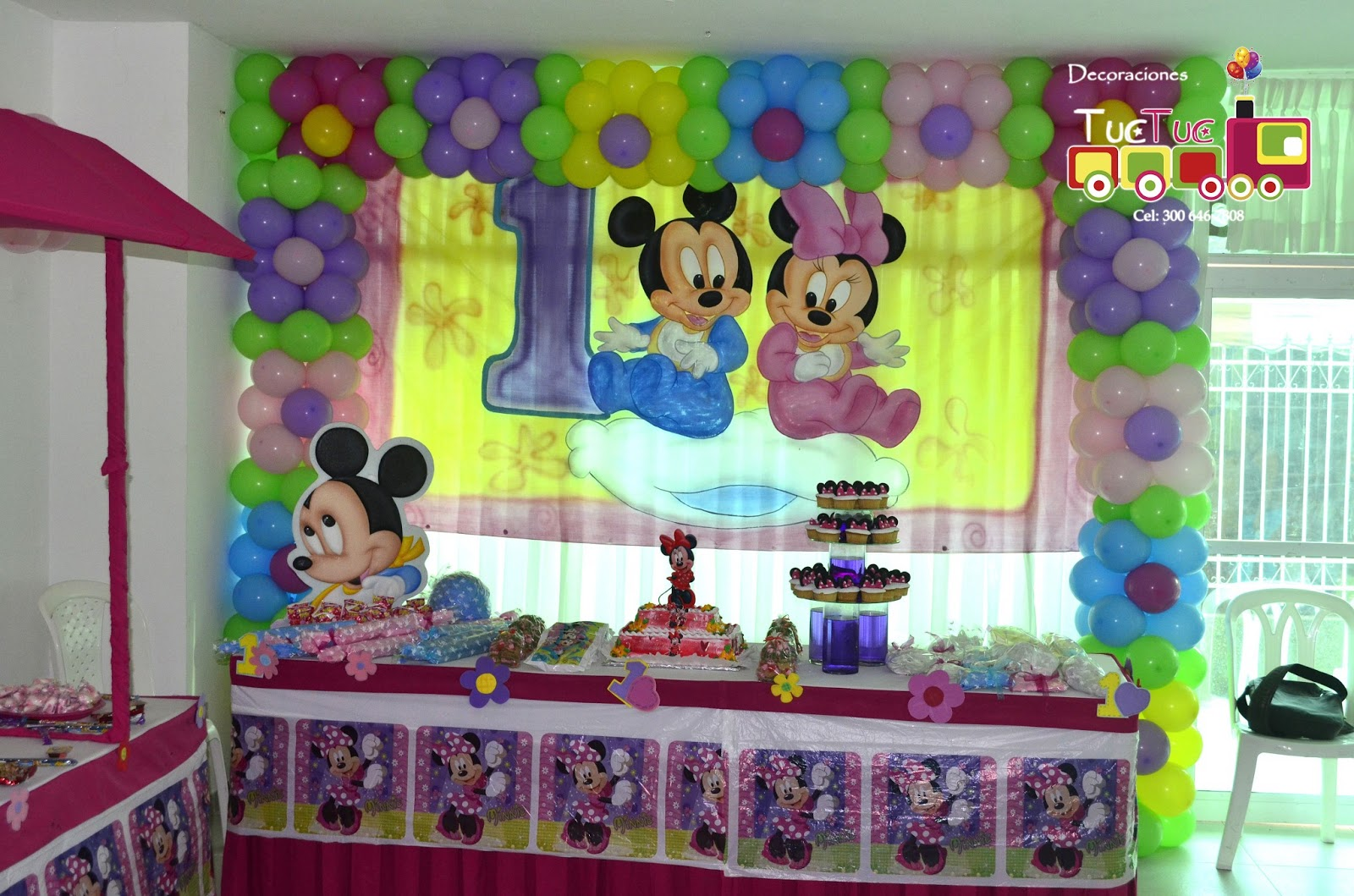 Global eventos mickey and minnie baby for Decoracion de i