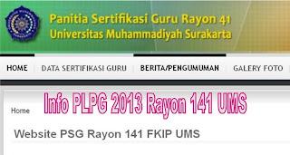 Info PLPG 2013 Rayon UMS