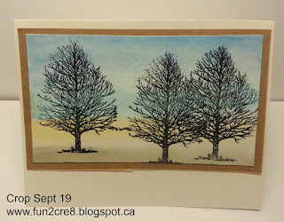 autumn trees watercolour watercolor CTMH
