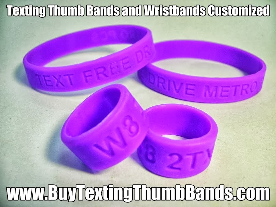 Texting Thumb Band Rings-Wholesale Custom Don't Text and Drive Thumb Band Rings