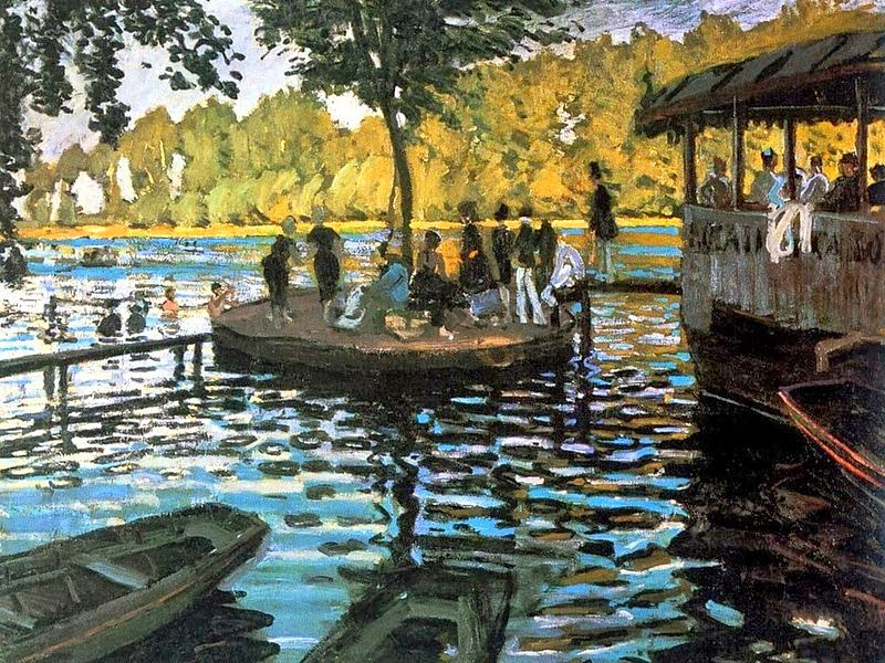 "Picture of ""Bain a la Grenouillere"" by Claude Monet, 1869"