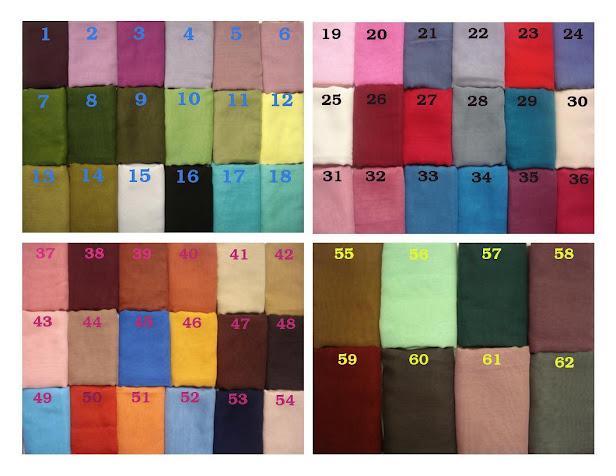 KATALOG WARNA - utk lebih pilihan warna berdasarkan jenis corak sulaman idaman anda !