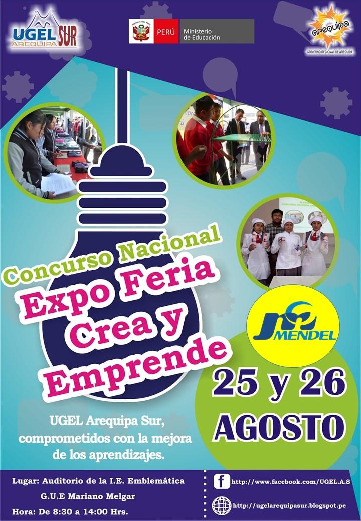 CONCURSO NACIONAL EXPO FERIA CREA Y EMPRENDE 2016