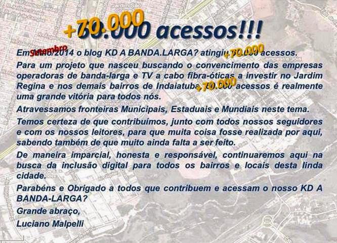 +70.000 ACESSOS 2014