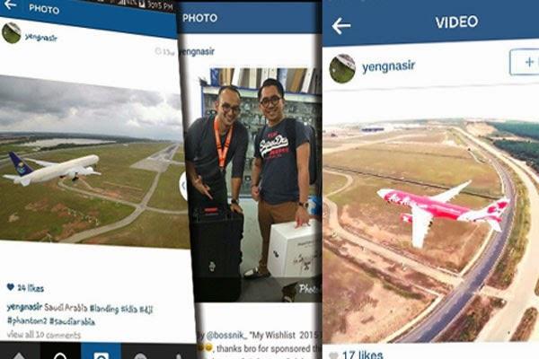 Video Individu Dikecam Tangkap Gambar Pesawat Di KLIA Guna Drone
