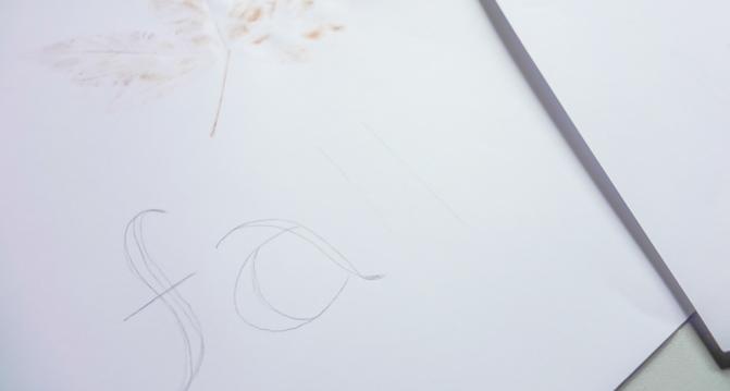 skizze Handlettering
