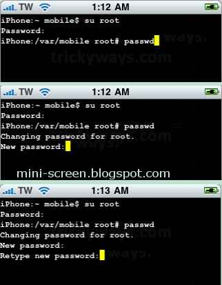 Secure your iPhone: Change Root Password after Jailbreak