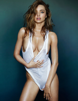 Miranda Kerr gets naked in a shoot for GQ magazine by Mario Testino