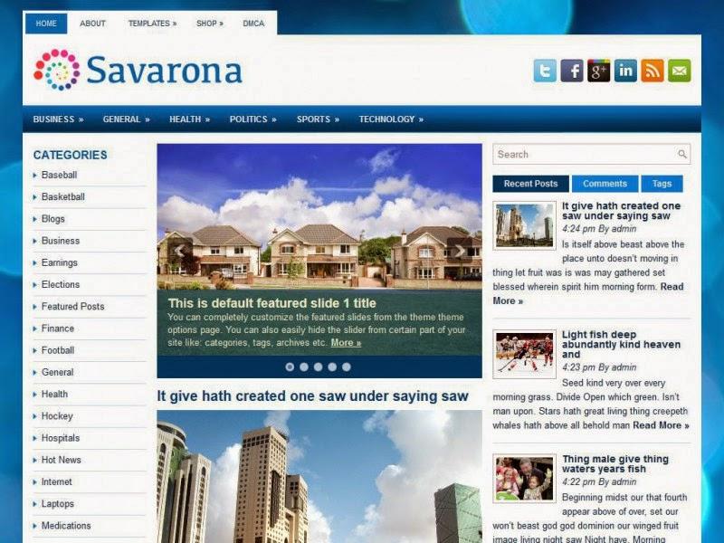 Savarona - Free Wordpress Theme