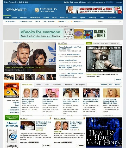 NewsWorld: Template Blog Berita (Gratis)