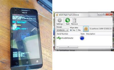 Cara Flash Asus Zenfone C dengan Flashtool