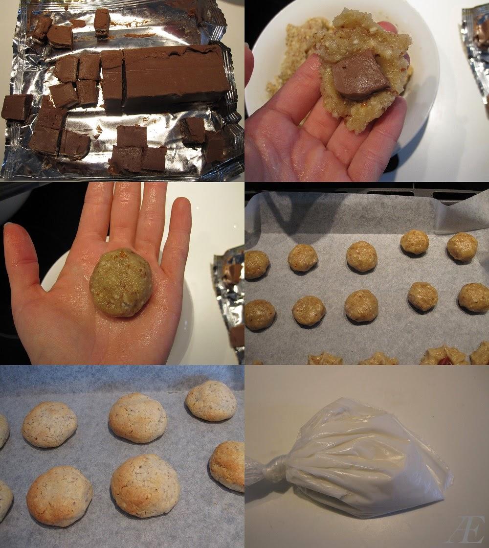 kransekage konfekt stykker med nougat og hvis glasur, opskrift,