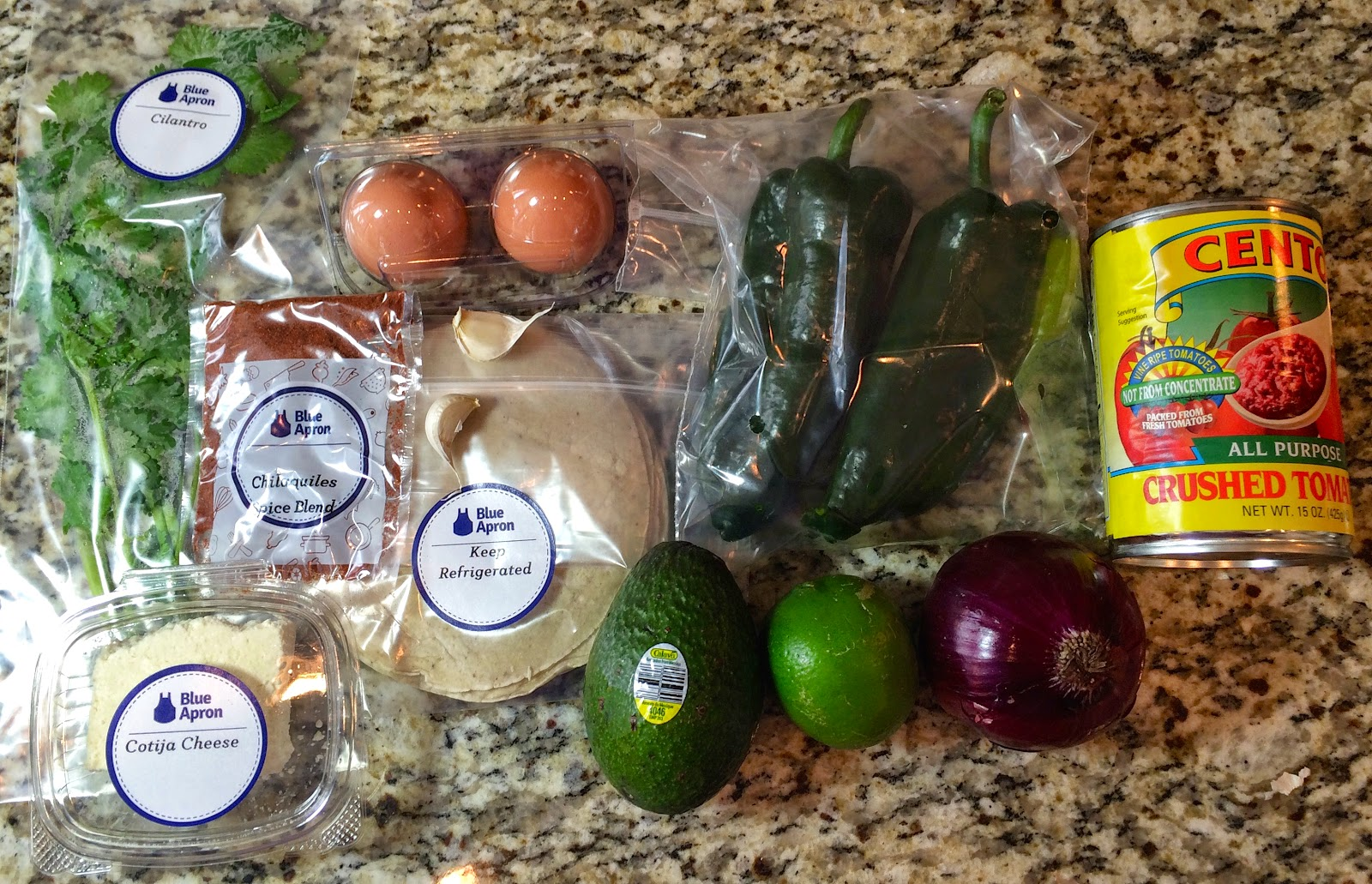 Blue apron ceo - Ingredients For Roasted Poblano Chilaquiles With Sunny Side Up Eggs Avocado
