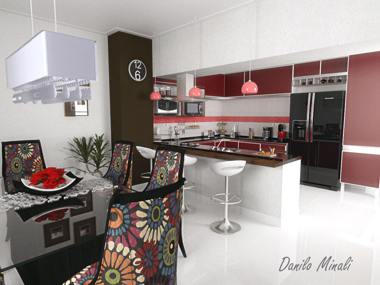 DICAS de como usar Balcões na sua Cozinha Americana Amando  #9C2F2F 1280 960