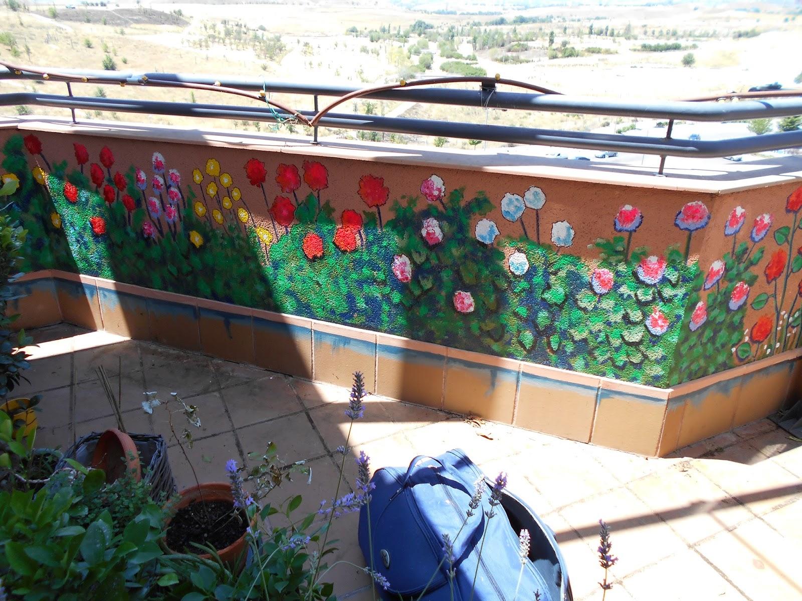 109 pintura mural en terraza dibujando arte - Pintar terraza ...
