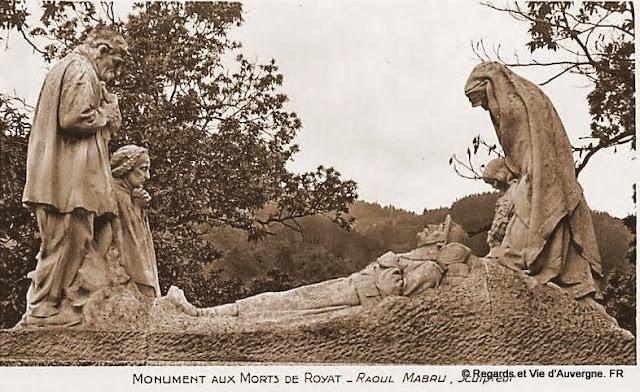 Monument aux morts de Royat Puy-de-Dôme.
