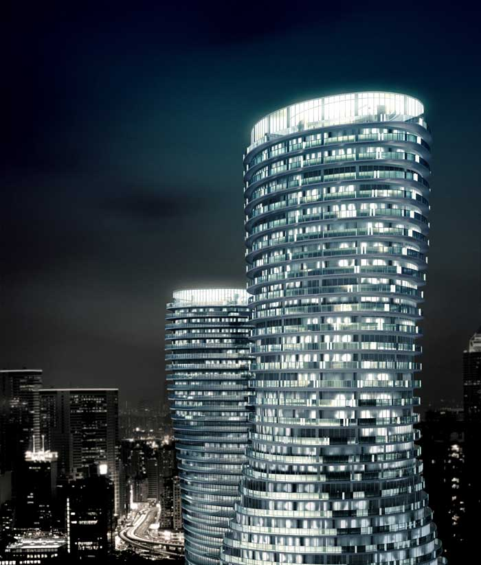 Amazing world absolute towers the tallest skyscrapers for Architecture firms mississauga
