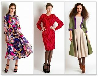 Платья в духе 50-х годов от Vika Smolyanitskaya 13/14г.