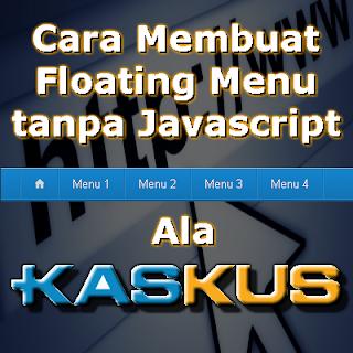 Cara Membuat Floating Menu tanpa Javascript