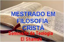 MESTRADO EM FILOSOFIA CRISTÃ