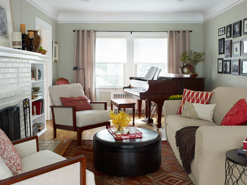 Sure fit slipcovers one day living room makeover with for Living room makeovers