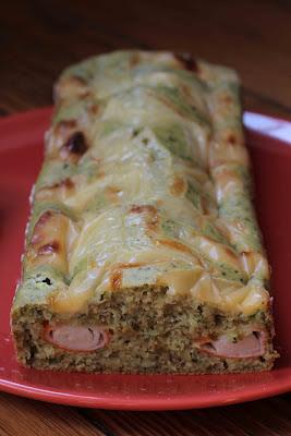 Cake vert haricot-surimi